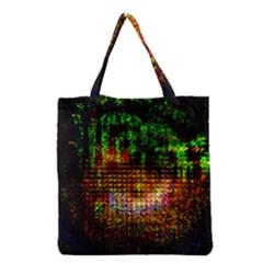 Radar Kaleidoscope Pattern Grocery Tote Bag