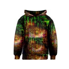 Radar Kaleidoscope Pattern Kids  Pullover Hoodie