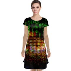 Radar Kaleidoscope Pattern Cap Sleeve Nightdress
