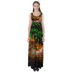 Radar Kaleidoscope Pattern Empire Waist Maxi Dress