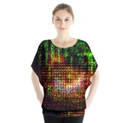 Radar Kaleidoscope Pattern Blouse