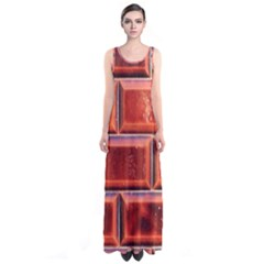 Portugal Ceramic Tiles Wall Sleeveless Maxi Dress