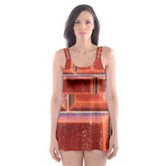 Portugal Ceramic Tiles Wall Skater Dress Swimsuit