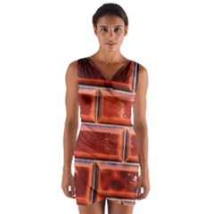 Portugal Ceramic Tiles Wall Wrap Front Bodycon Dress