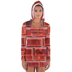 Portugal Ceramic Tiles Wall Women s Long Sleeve Hooded T Shirt