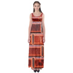 Portugal Ceramic Tiles Wall Empire Waist Maxi Dress