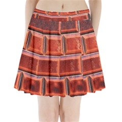 Portugal Ceramic Tiles Wall Pleated Mini Skirt