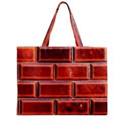 Portugal Ceramic Tiles Wall Medium Zipper Tote Bag