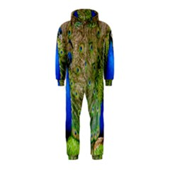 Peacock Animal Photography Beautiful Hooded Jumpsuit (kids)