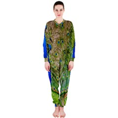 Peacock Animal Photography Beautiful Onepiece Jumpsuit (ladies)