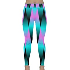 Shiny Decorative Geometric Aqua Classic Yoga Leggings
