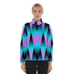 Shiny Decorative Geometric Aqua Winterwear