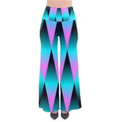 Shiny Decorative Geometric Aqua Pants