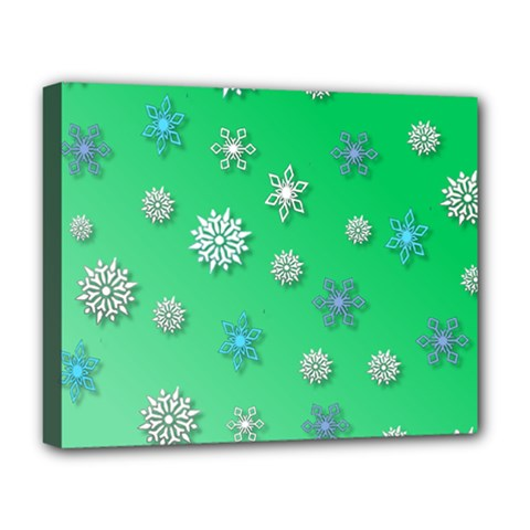 Snowflakes Winter Christmas Overlay Deluxe Canvas 20  X 16