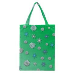 Snowflakes Winter Christmas Overlay Classic Tote Bag