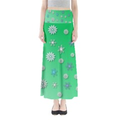 Snowflakes Winter Christmas Overlay Maxi Skirts
