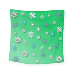Snowflakes Winter Christmas Overlay Square Tapestry (small)