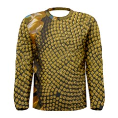 Sunflower Bright Close Up Color Disk Florets Men s Long Sleeve Tee