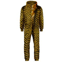 Sunflower Bright Close Up Color Disk Florets Hooded Jumpsuit (men)