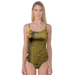 Sunflower Bright Close Up Color Disk Florets Camisole Leotard