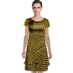 Sunflower Bright Close Up Color Disk Florets Cap Sleeve Nightdress