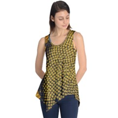 Sunflower Bright Close Up Color Disk Florets Sleeveless Tunic
