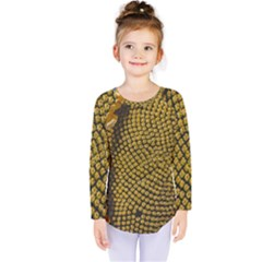Sunflower Bright Close Up Color Disk Florets Kids  Long Sleeve Tee