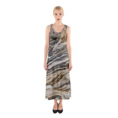 Rock Texture Background Stone Sleeveless Maxi Dress