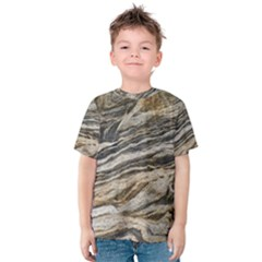 Rock Texture Background Stone Kids  Cotton Tee