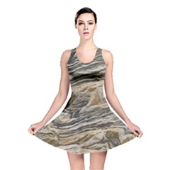 Rock Texture Background Stone Reversible Skater Dress