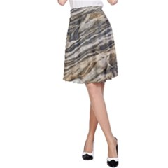 Rock Texture Background Stone A Line Skirt