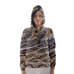 Rock Texture Background Stone Hooded Wind Breaker (women)