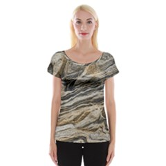 Rock Texture Background Stone Women s Cap Sleeve Top