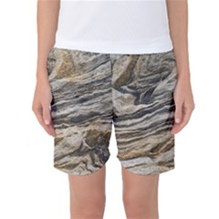 Rock Texture Background Stone Women s Basketball Shorts