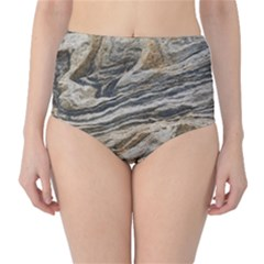 Rock Texture Background Stone High Waist Bikini Bottoms