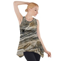 Rock Texture Background Stone Side Drop Tank Tunic