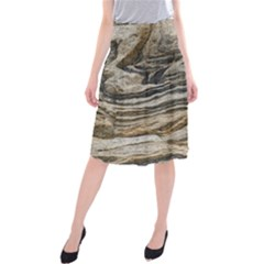 Rock Texture Background Stone Midi Beach Skirt