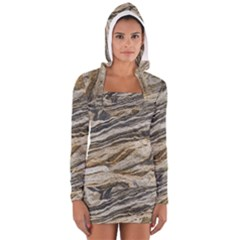 Rock Texture Background Stone Women s Long Sleeve Hooded T Shirt