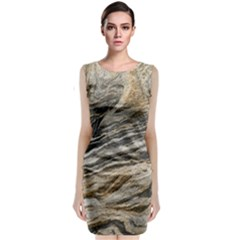 Rock Texture Background Stone Classic Sleeveless Midi Dress