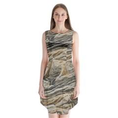 Rock Texture Background Stone Sleeveless Chiffon Dress