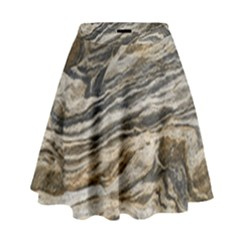 Rock Texture Background Stone High Waist Skirt
