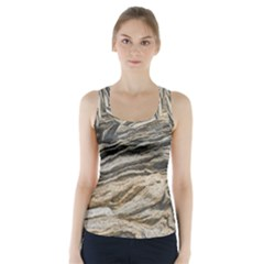 Rock Texture Background Stone Racer Back Sports Top