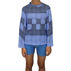 Texture Structure Surface Basket Kids  Long Sleeve Swimwear