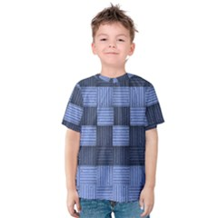 Texture Structure Surface Basket Kids  Cotton Tee