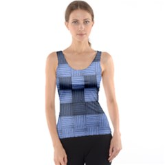 Texture Structure Surface Basket Tank Top