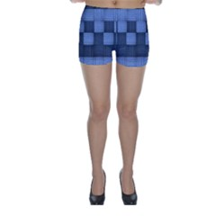 Texture Structure Surface Basket Skinny Shorts