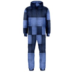 Texture Structure Surface Basket Hooded Jumpsuit (men)