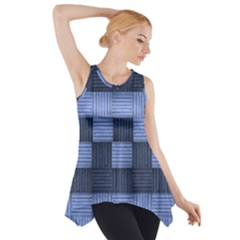 Texture Structure Surface Basket Side Drop Tank Tunic