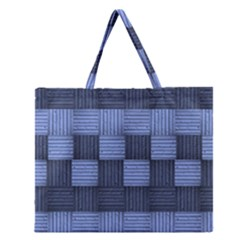 Texture Structure Surface Basket Zipper Large Tote Bag