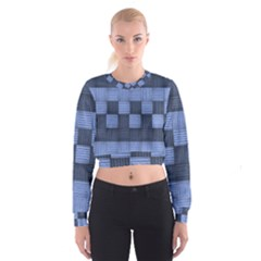 Texture Structure Surface Basket Women s Cropped Sweatshirt